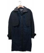 CARVEN(カルヴェン)の古着「レイヤードコート」 ネイビー
