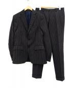 ETRO(エトロ)の古着「ストライプセットアップスーツ」|ブラック