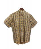 Burberry's(バーバリーズ)の古着「ノバチェックリネン混シャツ」|ベージュ