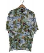 HARLEY-DAVIDSON(ハーレーダビットソン)の古着「アロハシャツ」|ライトグリーン