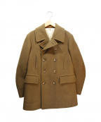 SCYEBASICS(サイベーシックス)の古着「ウールカシミヤメルトンPコート」|キャメル