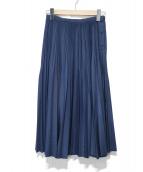 BACCA(バッカ)の古着「プリーツスカート」|ネイビー