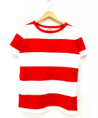 BUTCHER PRODUCTS(ブッチャープロダクツ)の古着「ボーダーTシャツ」 レッド
