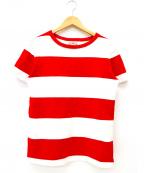 BUTCHER PRODUCTS(ブッチャープロダクツ)の古着「ボーダーTシャツ」|レッド