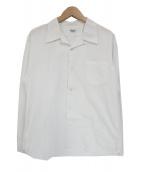 ATLAST & CO(アットラスト)の古着「長袖オープンカラーシャツ」|ホワイト