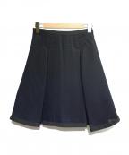 sacai luck(サカイ ラック)の古着「タックフレアスカート」 ネイビー