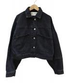 RAY BEAMS(レイビームス)の古着「デニムパッチワークブルゾン」|ブラック