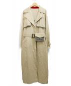 Ameri VINTAGE(アメリビンテージ)の古着「リバーシブルトレンチコート」|ベージュ