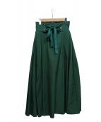 UN3D.(アンスリード)の古着「コルセットフレアスカート」|グリーン
