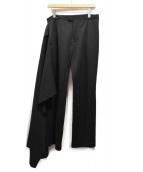 YOHJI YAMAMOTO(ヤマモトヨウジ)の古着「レイヤードラップパンツ」|ブラック