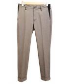 1piu1uguale3(ウノピュウノウグァーレトレ)の古着「テーパードスラックスパンツ」|グレー