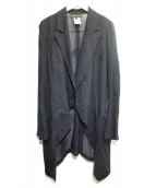 ANN DEMEULEMEESTER(アンドゥムルメステール)の古着「ロングジャケット」|ブラック