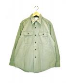MADISON BLUE(マディソンブルー)の古着「ハンプトンバックサテンシャツ」|オリーブ