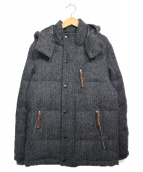 ROSSO(ロッソ)の古着「ハリスツイードダウンジャケット」|グレー