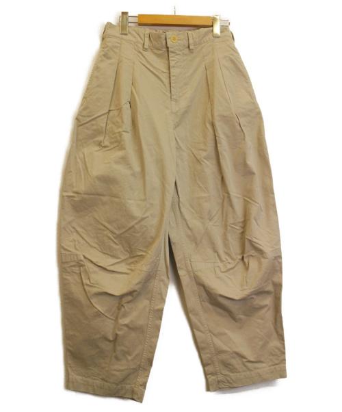 nest Robe(ネストローブ)nest Robe (ネストローブ) タックパンツ ベージュ サイズ:FREE 未使用品 参考価格¥21.000+税の古着・服飾アイテム