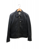 nano universe(ナノユニバース)の古着「シングルライダースジャケット」 ブラック