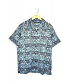 Thee Hysteric XXX(ジィヒステリックトリプルエックス)の古着「オープンカラーシャツ」|スカイブルー