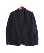 COMME des GARCONS HOMME DEUX(コムデギャルソン オム ドゥ)の古着「リネン1Bアンコンジャケット」|ネイビー