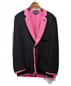 COMME des GARCONS Homme Plus(コムデギャルソンオムプリュス)の古着「テーラードジャケット」|ブラック×ピンク
