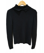 Rene(ルネ)の古着「袖フリルニット」|ブラック