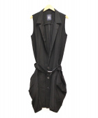 LIMI feu(リミフゥ)の古着「ロングジレ」|ブラック