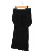 RICK OWENS(リック オウエンス)の古着「ベルベットスカート」|ブラック