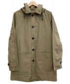 MHL.(エムエイチエル)の古着「コーティング加工フーデッドコート」|ベージュ
