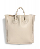 YOUNG & OLSEN The DRYGOODS STORE(ヤングアンドオルセン)の古着「EMBOSSED LEATHER TOTE M」|ベージュ