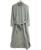 23区(ニジュウサンク)の古着「製品染めシャツワンピース」|カーキ