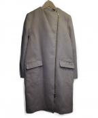 Loungedress(ラウンジドレス)の古着「ノーカラーコート」 ベージュ