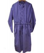BOSCH(ボッシュ)の古着「ストライプブラウスワンピース」|ブルー