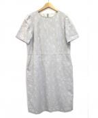 Sally Scott(サリースコット)の古着「カモフラジャガードドレス」|ライトグレー