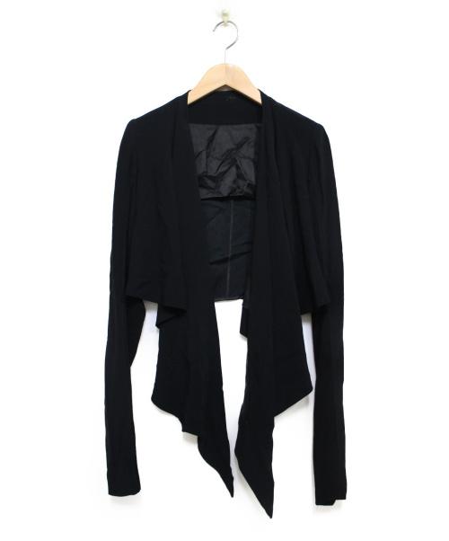 RICK OWENS(リックオウエンス)RICK OWENS (リックオウエンス) ショートジャケット ジャケット ブラック サイズ:40の古着・服飾アイテム