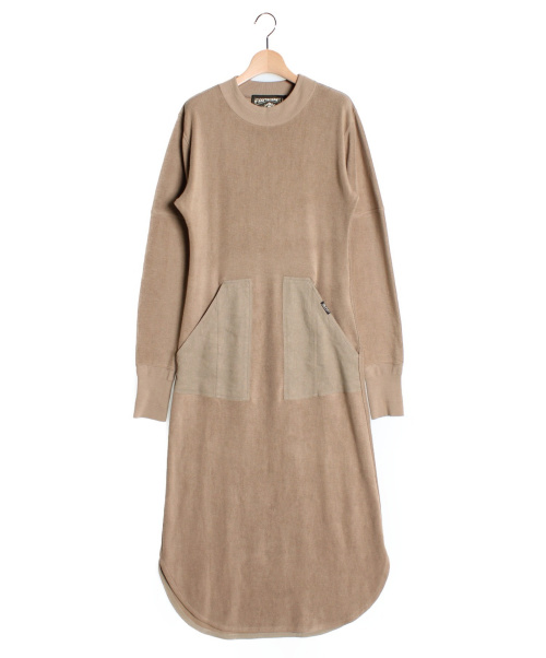 PHOTOCOPIEU(フォトコピュー)PHOTOCOPIEU (フォトコピュー) ロングワンピース ブラウン サイズ:TUの古着・服飾アイテム