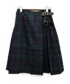ONEIL OF DUBLIN(オニール オブ ダブリン)の古着「チェックラップスカート」|ネイビー