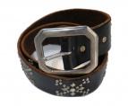 HTC(エイチティーシ)の古着「CROSS BONE STUDS BELTスタッズベルト」|ブラック