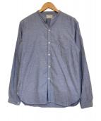 OLD JOE & Co.(オールドジョーアンドコー)の古着「バンドカラーシャンブレーシャツ」|スカイブルー