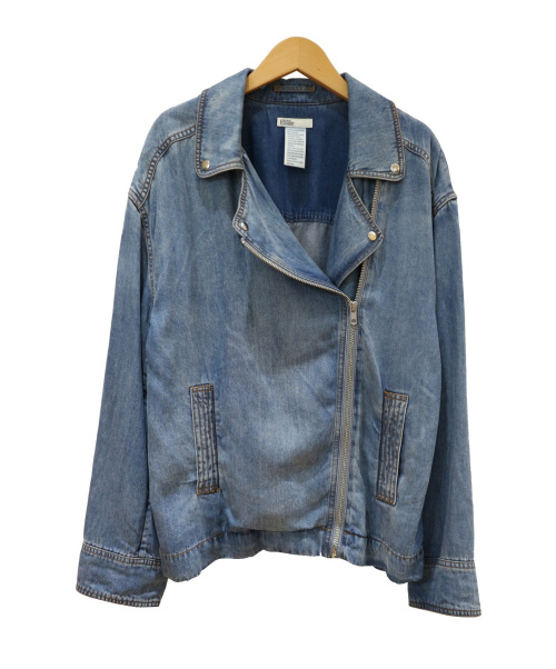 DOUBLE STANDARD CLOTHING(ダブルスタンダードクロージング)DOUBLE STANDARD CLOTHING (ダブルスタンダードクロージング) テンセルデニムライダースジャケット ブルー サイズ:Freeの古着・服飾アイテム