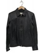 BEAUTY&YOUTH(ビューティーアンドユース)の古着「ゴートレザーシングルライダースジャケット」|ブラック