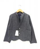 GRANDMA MAMA DAUGHTER(グランマ ママ ドーター)の古着「サマーツイードジャケット」|ブラック