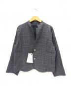 GRANDMA MAMA DAUGHTER(グランマママドーター)の古着「サマーツイードジャケット」|ブラック