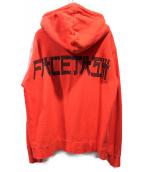 FACETASM(ファセッタズム)の古着「バックロゴプリントパーカー」|レッド