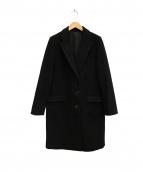 ROSSO(ロッソ)の古着「ウール混カシミヤチェスターコート」|ブラック