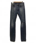 BALMAIN(バルマン)の古着「ダメージ加工デニムパンツ」|インディゴ
