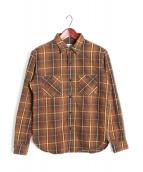 TENDERLOIN(テンダーロイン)の古着「T-HEAVY FLANNEL SHT」 ブラウン