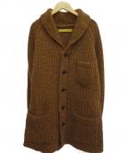 OLD JOE & Co.(オールドアンドジョー)の古着「ショールカラーカーディガン」|ブラウン
