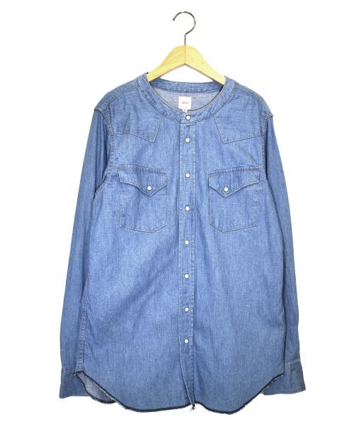aran(アラン)ARAN (アラン) バンドカラーデニムシャツ サイズ:2の古着・服飾アイテム