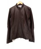 SHIPS JET BLUE(シップスジェットブル)の古着「シングルライダースジャケット」|ブラウン