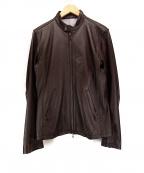 SHIPS JET BLUE(シップスジェットブルー)の古着「シングルライダースジャケット」 ブラウン