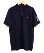 BURBERRY BLACK LABEL(バーバリーブラックレーベル)の古着「ポロシャツ」|ネイビー